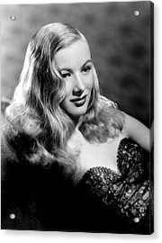 Veronica Lake Portrait, Featuring Acrylic Print by Everett