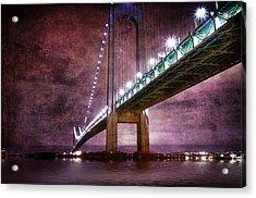 Verrazano-narrows Bridge03 Acrylic Print by Svetlana Sewell
