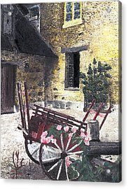 Versailles Peasant Village Acrylic Print by Inger Hutton