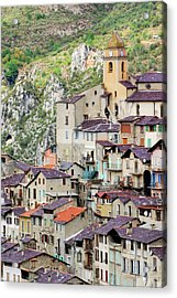 Vertical Panorama Of Saorge Acrylic Print by Alexandre Fundone