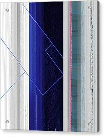 Vertical Rain Acrylic Print by Naxart Studio