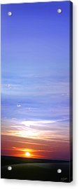 Acrylic Print featuring the photograph Vertical Sunset by Rod Seel