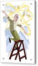 Vertigo, Conceptual Artwork Acrylic Print by Paul Brown