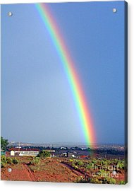 Very Bright Arizona Rainbow Acrylic Print by Merton Allen