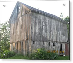 Acrylic Print featuring the photograph Very Old Barn by Tina M Wenger