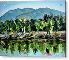 Veterans Park Pond Acrylic Print