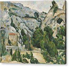 Viaduct At L'estaque Acrylic Print by Paul Cezanne
