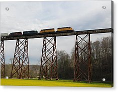 Viaduct Series-spring Acrylic Print by Cheryl Helms
