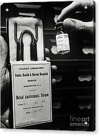 Vials Of Tetanus Antitoxin Acrylic Print by Science Source