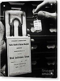Vials Of Tetanus Antitoxin Acrylic Print by Science Source