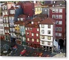 Vibrant Porto Acrylic Print by Arlene Carmel