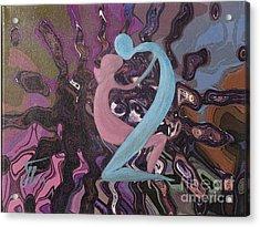 Vibrations-mixed Media Acrylic Print by Ketti Peeva