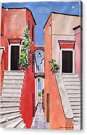 Vico Giardini Acrylic Print by Regina Ammerman