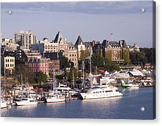 Acrylic Print featuring the photograph Victoria B.c. Cityscape by MaryJane Armstrong