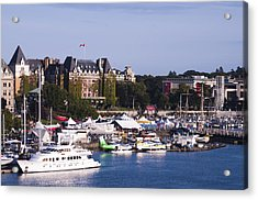 Acrylic Print featuring the photograph Victoria B.c.'s Inner Harbor by MaryJane Armstrong