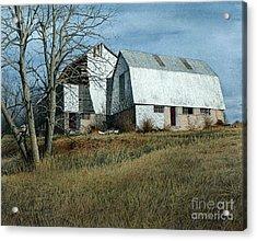 Victoria County Road Barn Acrylic Print
