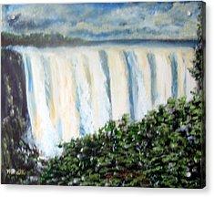 Victoria Falls Acrylic Print by M Bhatt