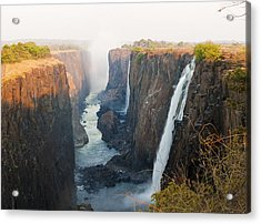 Victoria Falls, Zambia, Southern Africa Acrylic Print by Peter Adams