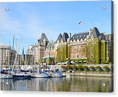 Victoria Vancouver Island Hotel Acrylic Print by Ann Marie Chaffin