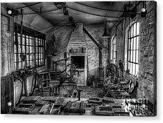 Victorian Locksmith's Workshop Acrylic Print by Adrian Evans