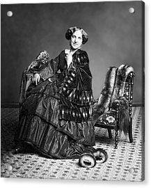 Victorian Woman With Furs C. 1853 Acrylic Print by Daniel Hagerman