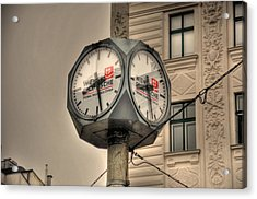 Vienna Time Acrylic Print by Barry R Jones Jr