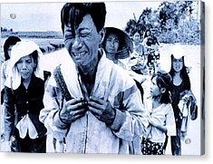 Vietnam War A Head Of Family Weeps Acrylic Print by Everett