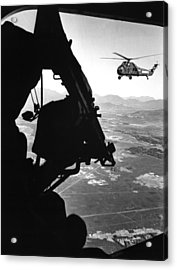 Vietnam War. Us Army Helicopter Acrylic Print by Everett