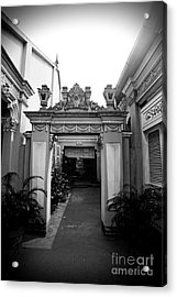 Acrylic Print featuring the photograph Vietnamese French Archway by Thanh Tran