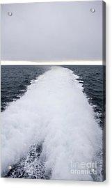 View From Back Of Ferry, Strait Of Juan De Fuca, Washington Acrylic Print by Paul Edmondson