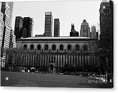 View From Bryant Park Nyc Acrylic Print by Trude Janssen