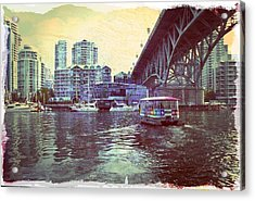 View From Granville Island Acrylic Print by Barbara  White