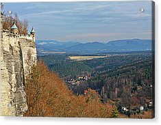 View From Koenigstein Fortress Germany Acrylic Print by Christine Till