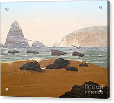 View From Luffenholtz Beach Acrylic Print