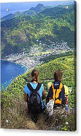 Acrylic Print featuring the photograph View From Petit Piton- St Lucia  by Chester Williams