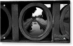 Acrylic Print featuring the photograph View From The Bridge by Nina Prommer