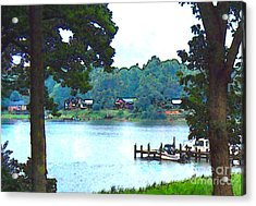 View From The Deck Acrylic Print by Elinor Mavor