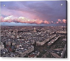View From The Eiffel 2 Acrylic Print by David Ritsema