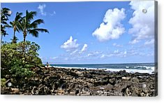 View From The Gazebo On Maui Acrylic Print by Rob Green