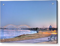 View From The Park Acrylic Print by Barry Jones