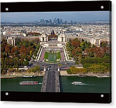 View From The Second  Floor Of Eiffel Tower Acrylic Print by Anna A. Krømcke