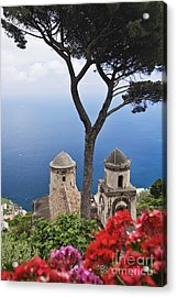 View From Villa Rufolo Gardens Acrylic Print by Jeremy Woodhouse