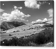 Acrylic Print featuring the photograph View Into The Mountains by Kathleen Grace