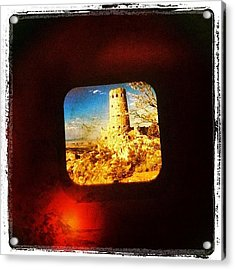 View-master Grand Canyon Watchtower Acrylic Print