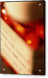 View Of A Bottle Of Ibuprofen Pills Acrylic Print by Jeremy Walker