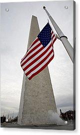 View Of American Flag Acrylic Print by Tim Laman