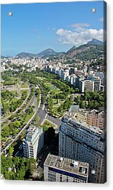 View Of Aterro Do Flamengo Acrylic Print by Ruy Barbosa Pinto