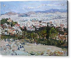 View Of Athens From Acropolis Acrylic Print