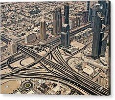 View Of Burj Khalifa Acrylic Print by Luc V. de Zeeuw