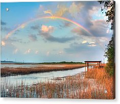 View Of Charleston Rainbow  Acrylic Print by Jenny Ellen Photography
